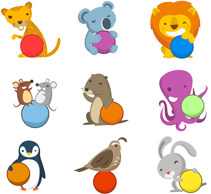 Animal Alphabet with balls to fill in letters numbers symbols
