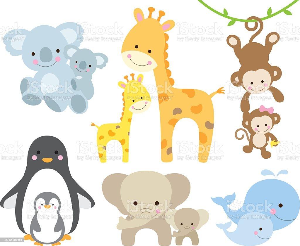 Animal and Baby Set