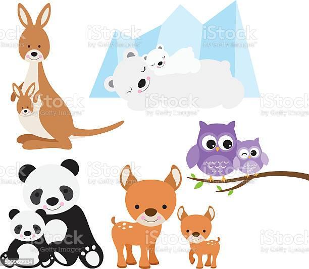 Animal and baby set vector id599969934?b=1&k=6&m=599969934&s=612x612&h=awbnn5o bu1kdhlepvx 5m2dh3ppn24mvc5qawnz7de=