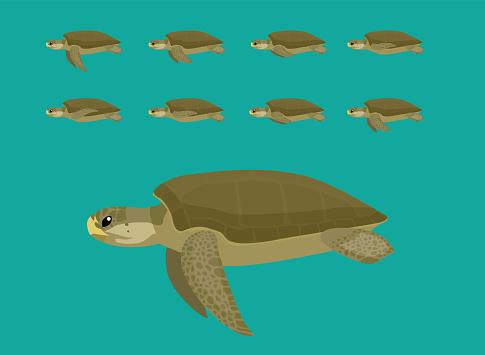Animal Animation Sequence Flatback Cartoon Vector