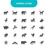 Gorilla, Zoo, Octopus, Rhinoceros, Icon, Animals, Icon Set