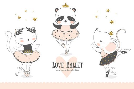 Animal ballerina collection