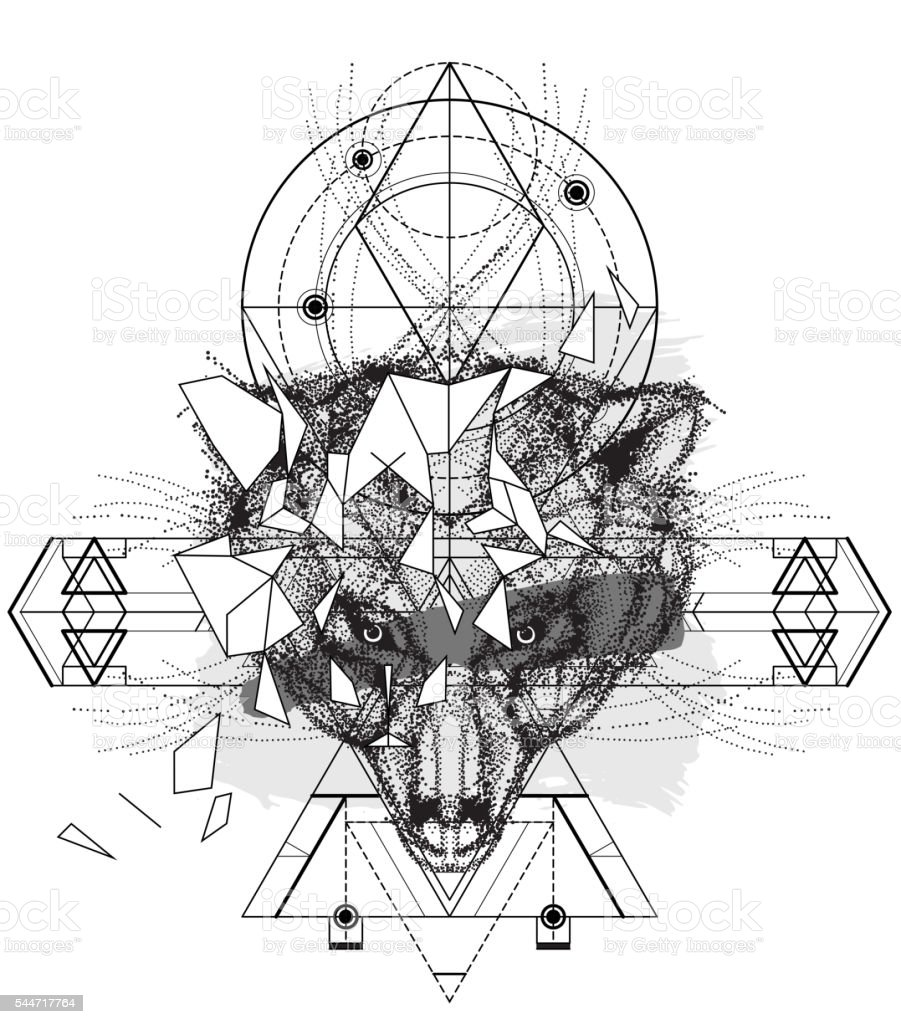 動物の頭部三角形のアイコンが付いて ベクターアートイラスト