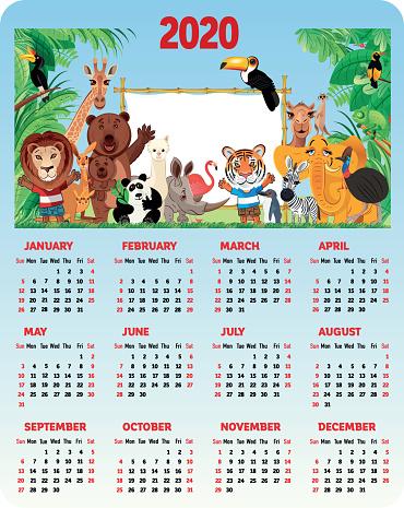 Animal Calendar 2020