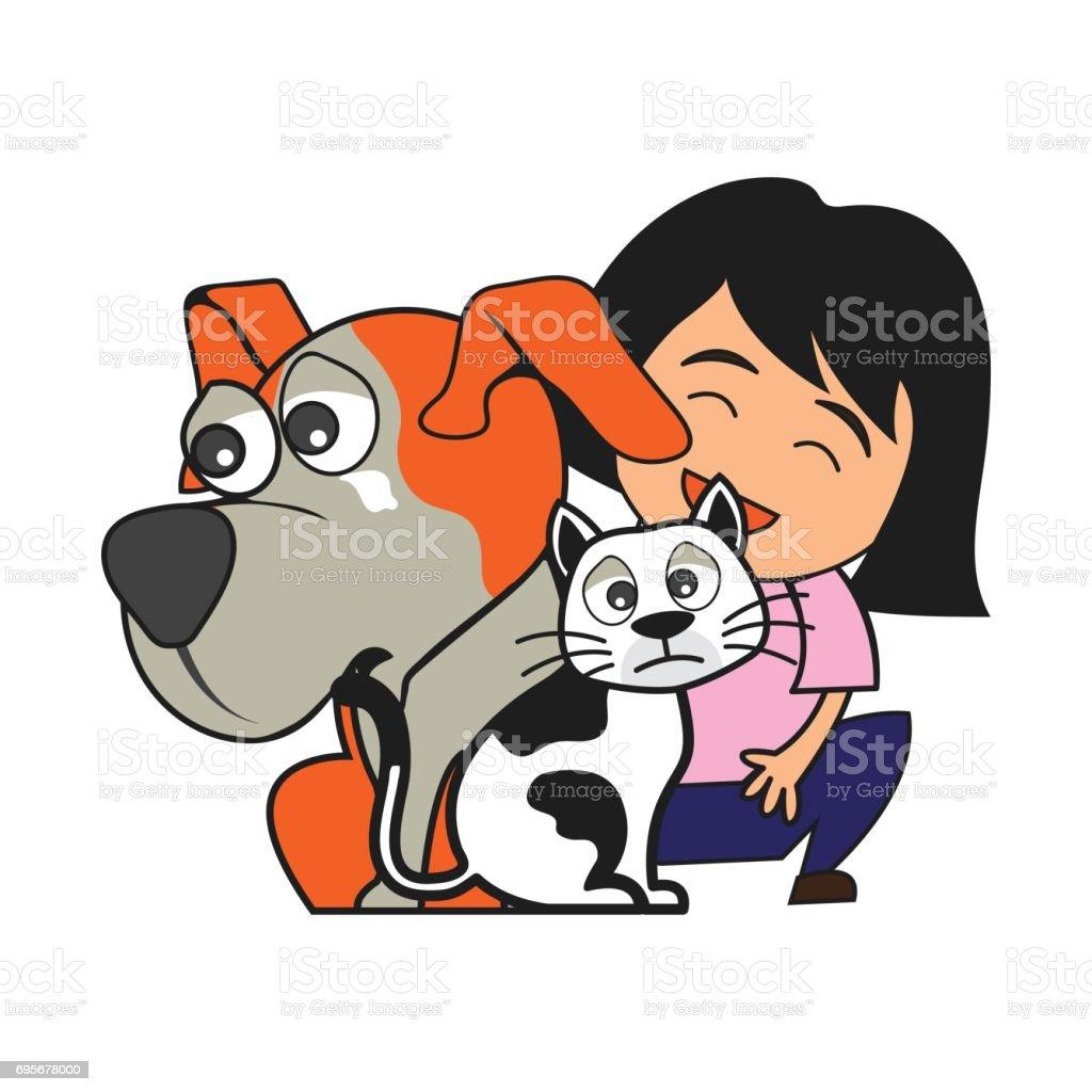 Ilustración De Concepto De Cuidado De Los Animales Amor Cuidado Y