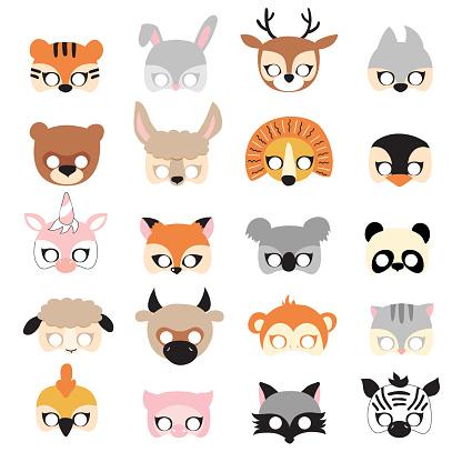 Animal carnival mask set.