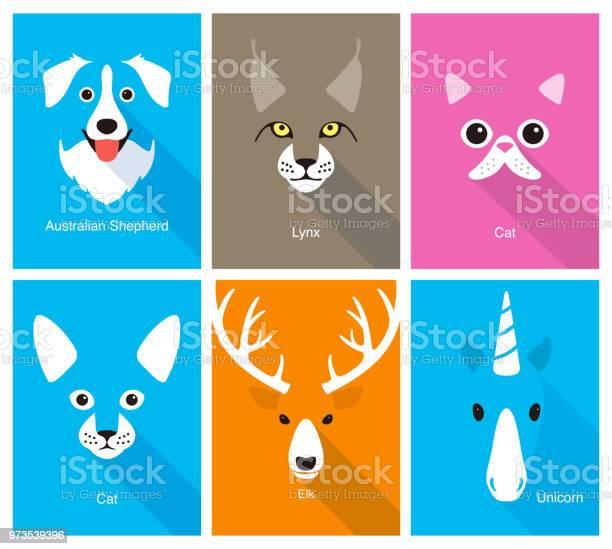 Animal cartoon face flat face icon vector illustration vector id973539396?b=1&k=6&m=973539396&s=612x612&h=fpuferys8ef5lyq7hfdnb9nx5xiulbeywwbtsw sbxg=