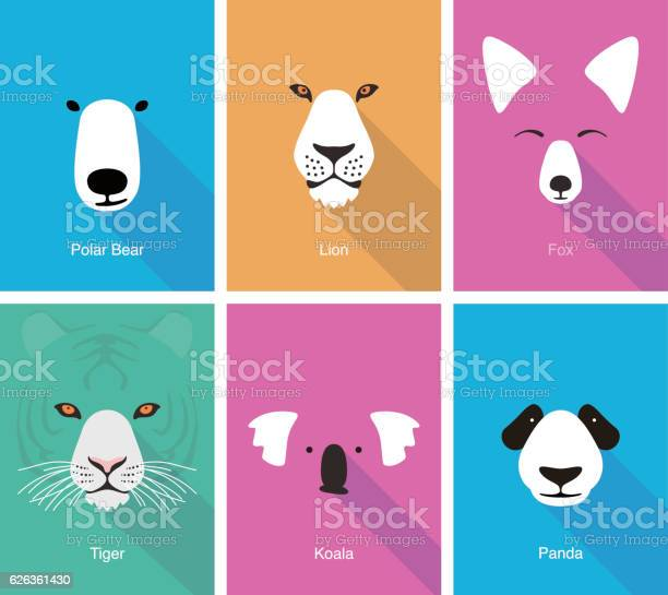 Animal cartoon face flat face icon vector vector id626361430?b=1&k=6&m=626361430&s=612x612&h=kwkg7tptqz si ua qc0lnxjsgj6i4e224x x4ffo8u=