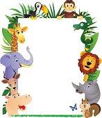 Animal cartoon frame