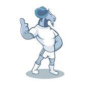 Animal cartoon mascot design illustration