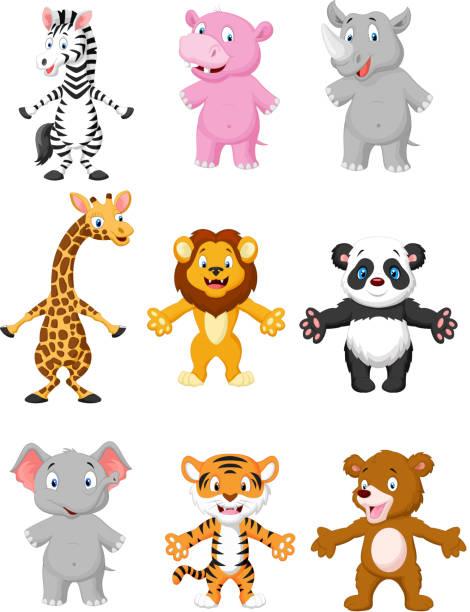 animal cartoon posieren - giraffenhumor stock-grafiken, -clipart, -cartoons und -symbole