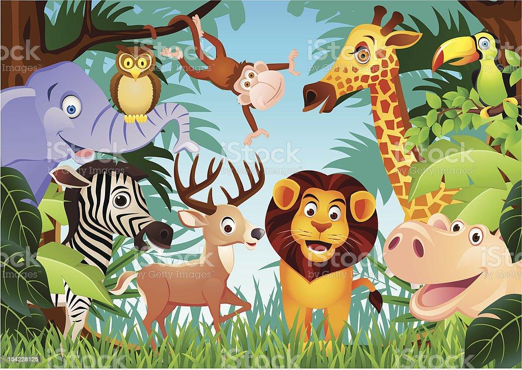 Animal cartoon royalty-free stock vector art