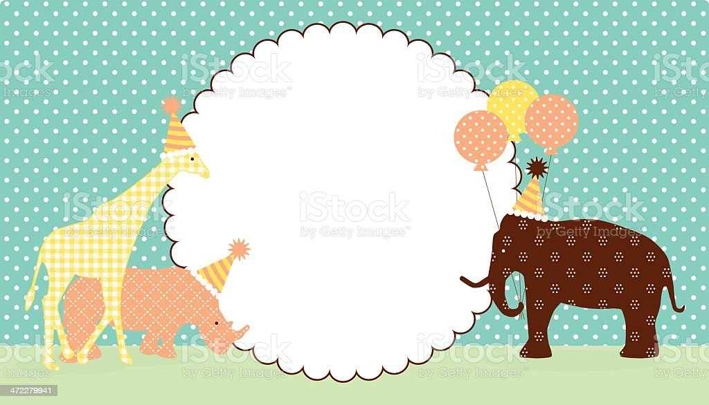 Animal Celebration vector art illustration
