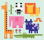 A set of cute animal collection. Zip contains AI CS2 & Jpeg Format.