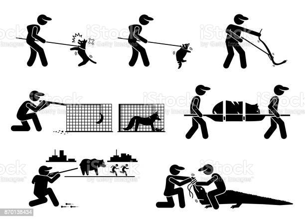 Animal control service and equipments stick figure pictogram icons vector id870138434?b=1&k=6&m=870138434&s=612x612&h=xed lr6y7b0fbshya6qfglglj11vgub4qhwzj7aamje=