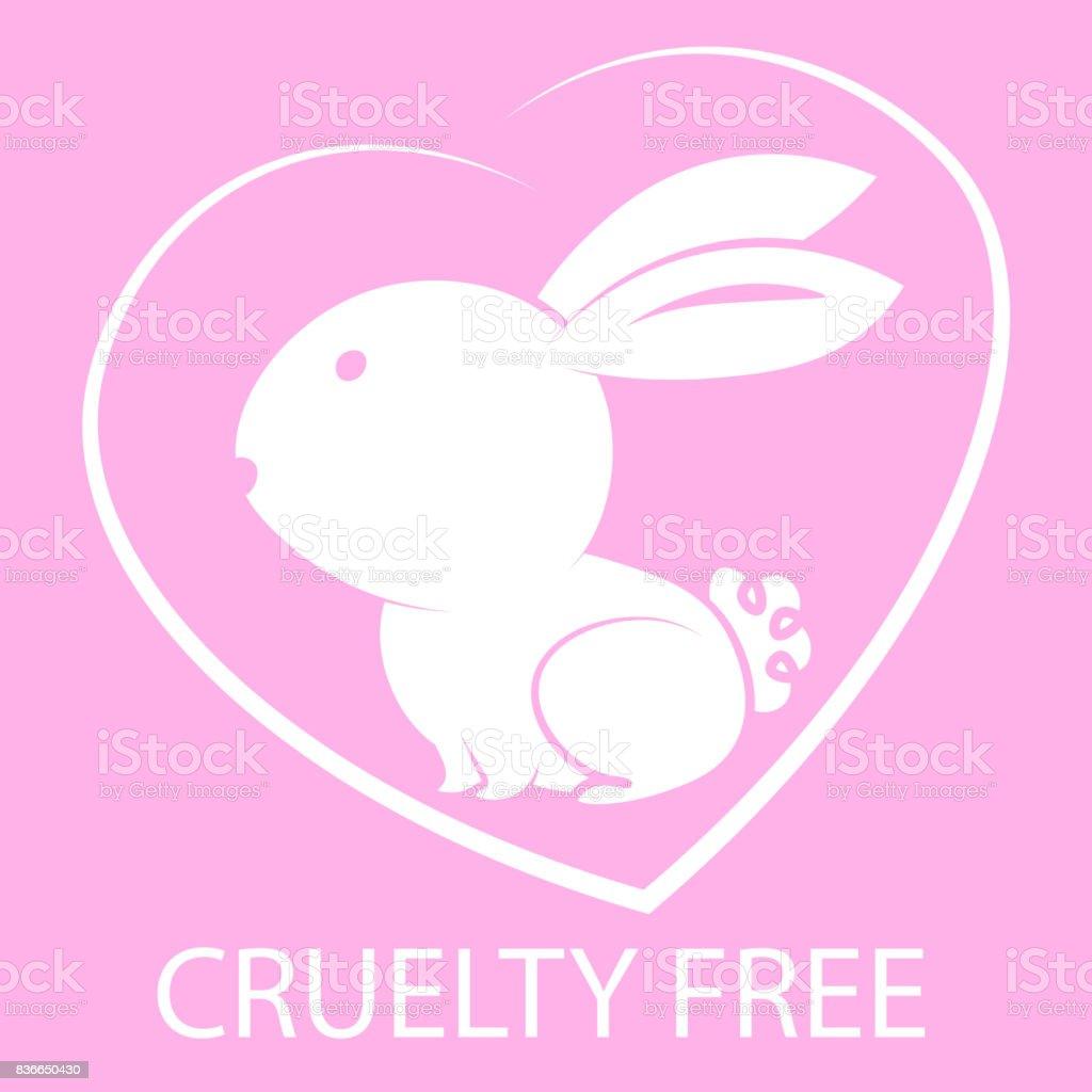 Animal cruelty free icon design. vector art illustration