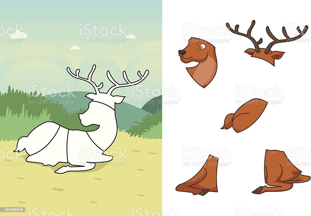 Animal deer puzzle royalty-free animal deer puzzle stock vector art & more images of animal