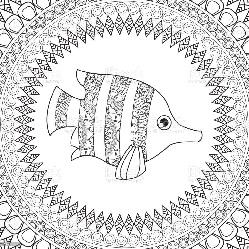 動物のデザイン大人のぬりえのコンセプトです白背景