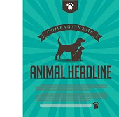 Animal dog and cat poster, infographic, advertising web page or marketing template with copy space. EPS 10 vector.