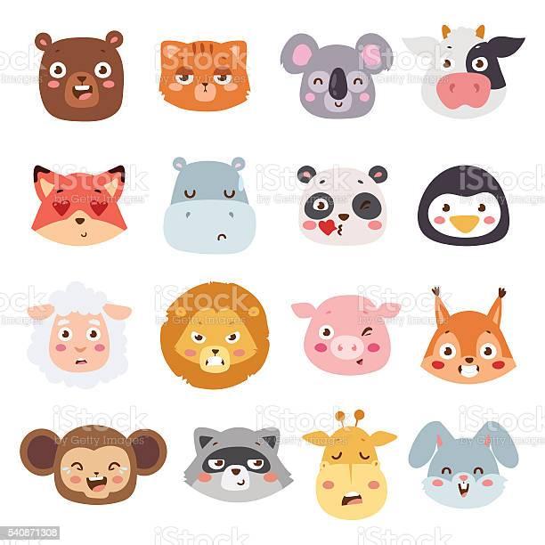Animal Emotions Vector Illustration Stock Illustration - Download Image Now