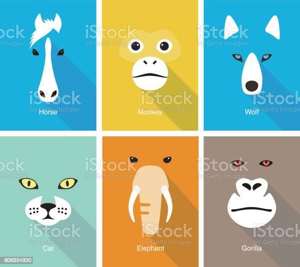 Animal face flat icon set design vector illustration vector id806854930?b=1&k=6&m=806854930&s=612x612&h=eiu66mmi1aqlw1u9hunxok5n0c4pxzwn8zyddxtdmze=