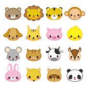 Animal face icon.