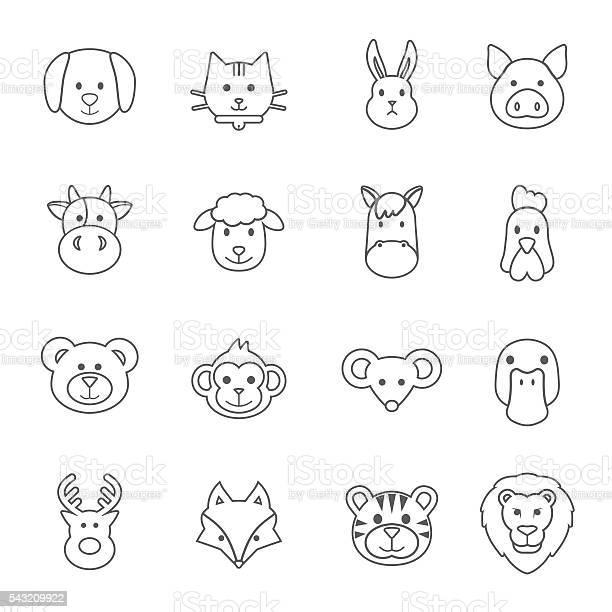Animal face set vector id543209922?b=1&k=6&m=543209922&s=612x612&h=1gsdibgfbfsro8ieyufdxtlpvxrpeizuuaozooh s8a=