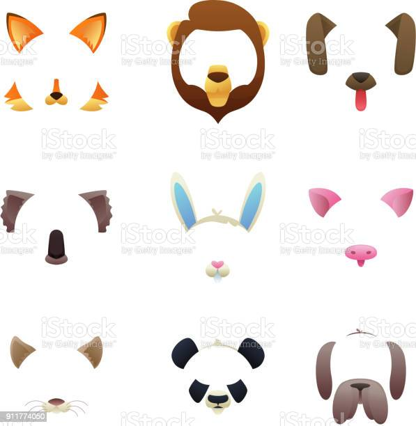 Animal faces for video or photo filters vector id911774050?b=1&k=6&m=911774050&s=612x612&h=5a3phdvziu4qdqyyxykgdx3qncbx xx4f5p b ov zg=