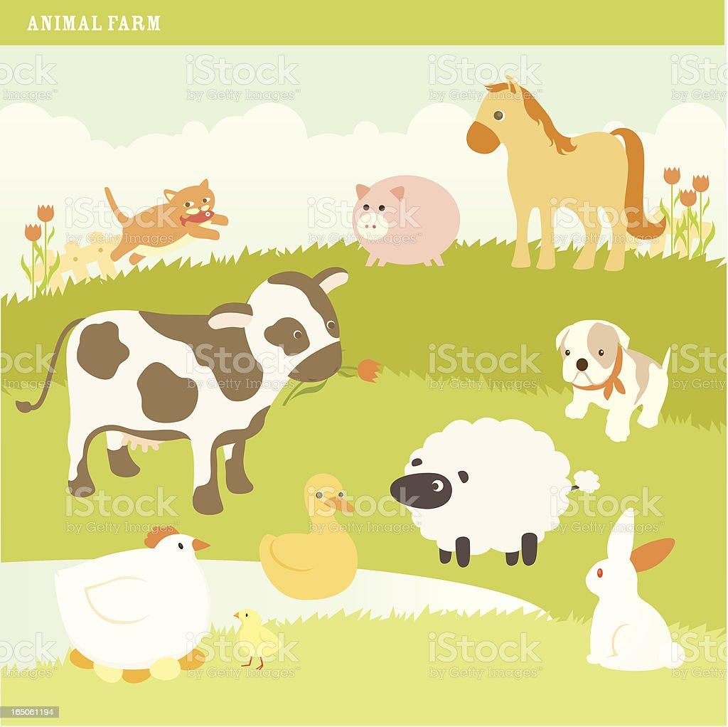 Animal Farm vector art illustration