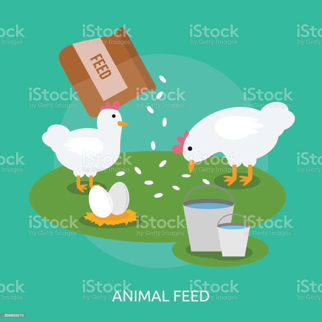 Animal Feed Conceptual Design vector art illustration