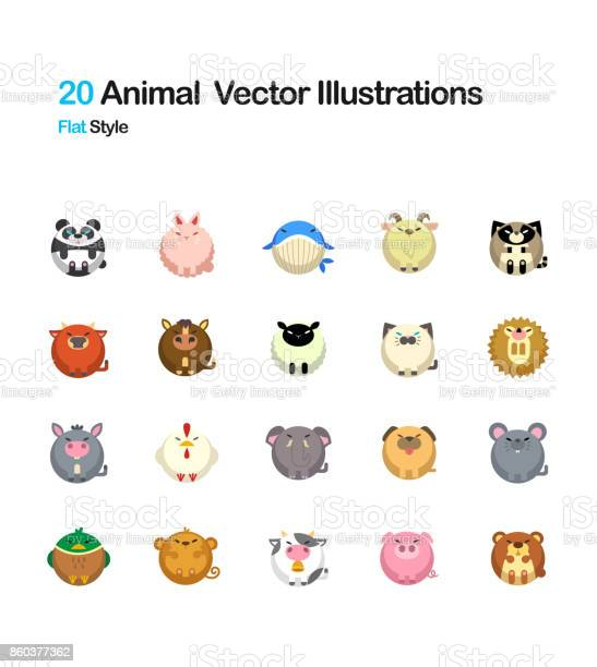 Animal flat illustration vector id860377362?b=1&k=6&m=860377362&s=612x612&h=uyxoccyejx1cu hk cxqv5g2zbt0px2ihpbelsbebby=