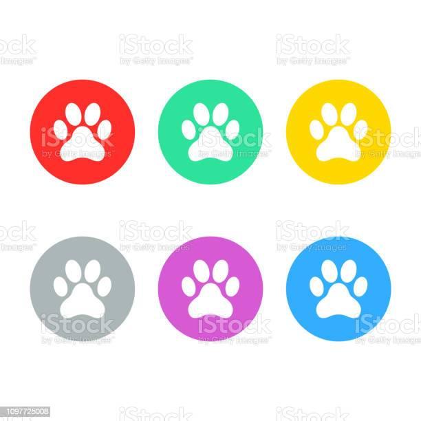 Animal footprint dog footprint icon set isolated vector vector id1097725008?b=1&k=6&m=1097725008&s=612x612&h=2fdpdkvlyzou7y  wut7efod4khurps1nlc6u5w41 i=