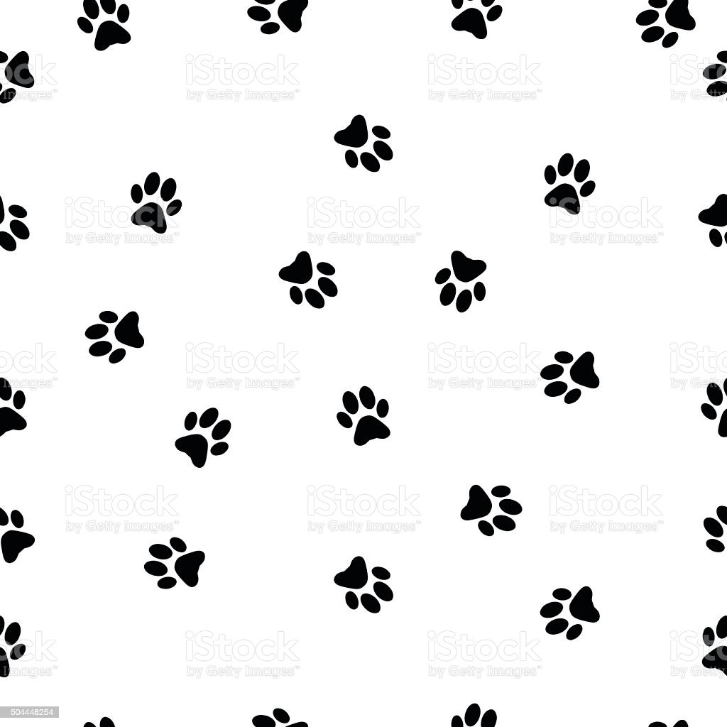動物の足跡パターンベクトルイラスト - なぞるのベクターアート素材や