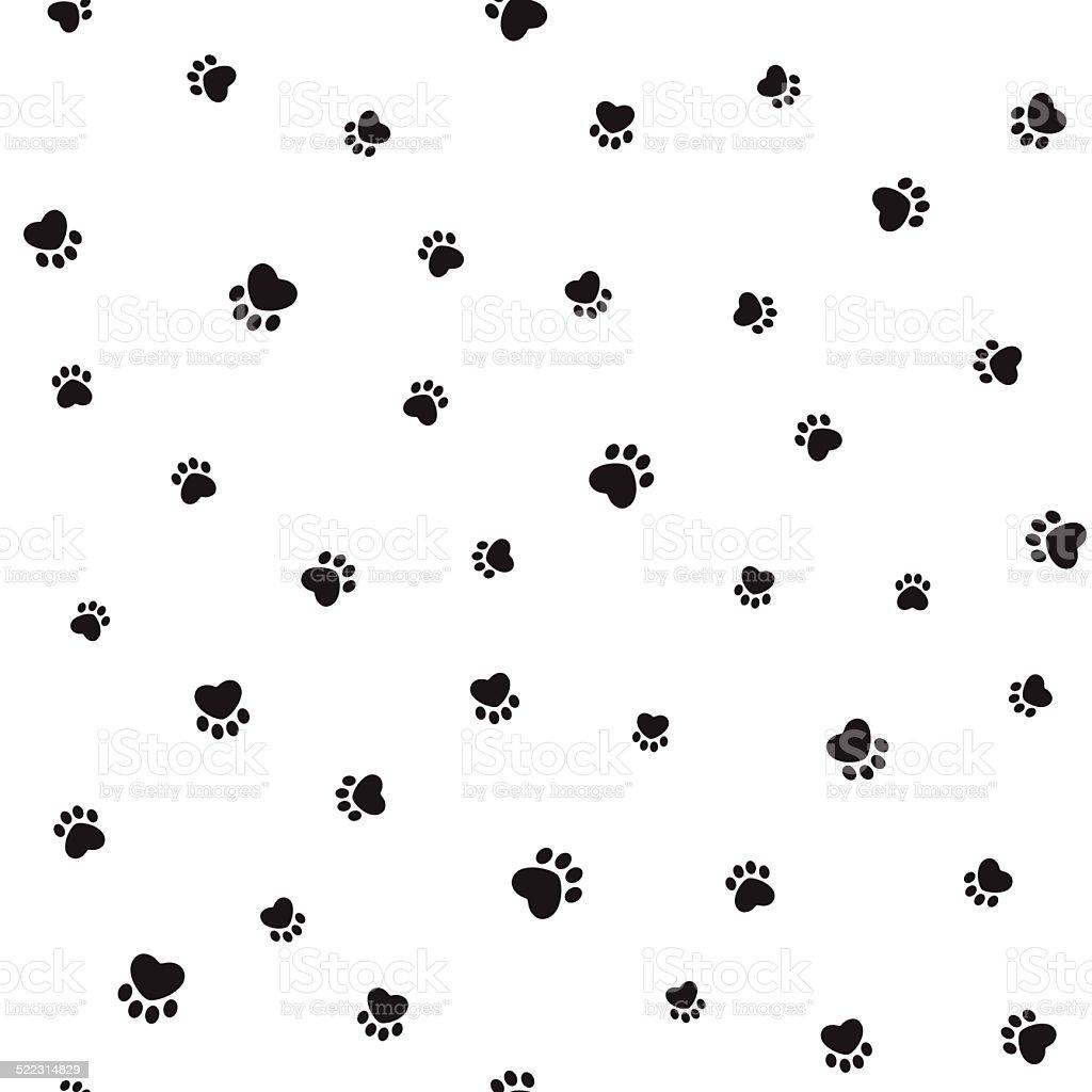 Ilustración de Huellas De Animales Sin Costuras Fondo y más banco de ...