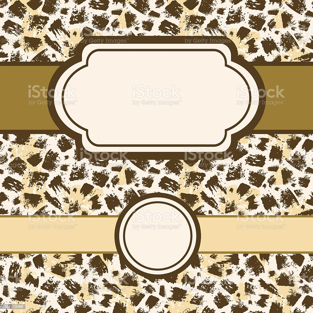 Animal Fur Print Painted Seamless Pattern And Frames Set royalty-free stock vector art