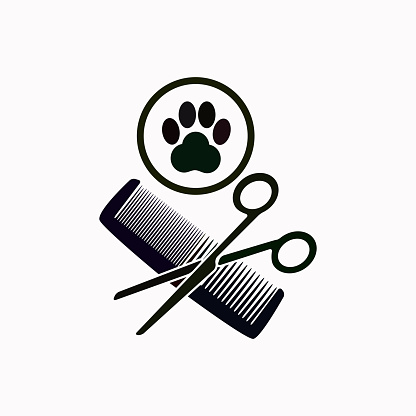 Animal grooming vector  icon.