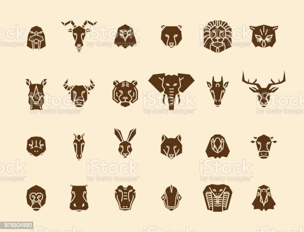 Animal head icons unique vector geometric illustration collection vector id979304930?b=1&k=6&m=979304930&s=612x612&h=5jtaojpmhzpq3oewvnenknbl3yniqfvcgjtycfreiyk=