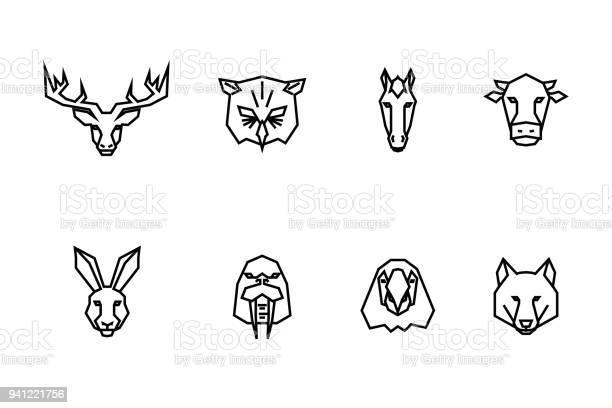 Animal heads icons vector geometric illustrations of wild life vector id941221756?b=1&k=6&m=941221756&s=612x612&h=eo3jdvugo squvlkkzbrlyi4kurifjx6i5fehdpcbuu=