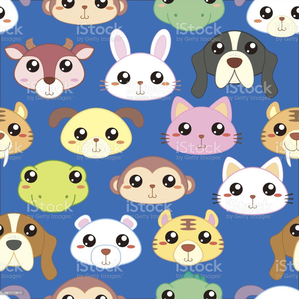 Animal heads seamless pattern animal heads seamless pattern – cliparts vectoriels et plus d'images de abstrait libre de droits