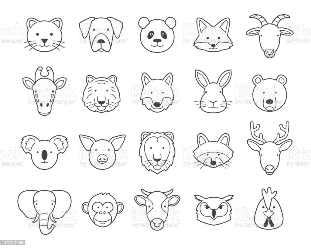 動物の頭 ロイヤリティフリー動物の頭 - アイコンのベクターアート素材や画像を多数ご用意