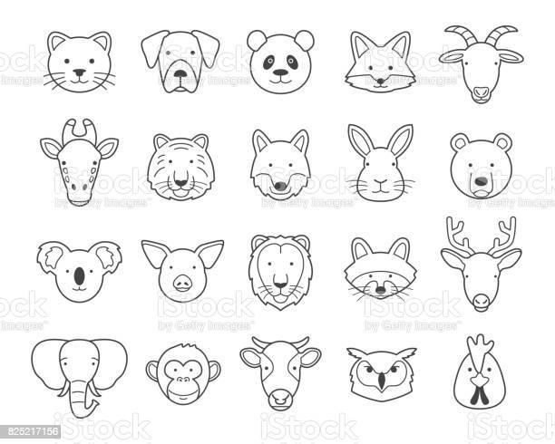 Animal heads vector id825217156?b=1&k=6&m=825217156&s=612x612&h=a31bmodjarjmglsbfkqjbuwfpbd 1jxgy22ho1t9lhw=
