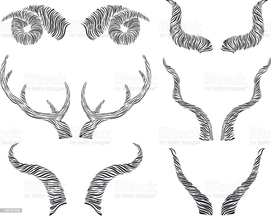 animal horns royalty-free stock vector art
