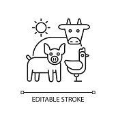 istock Animal husbandry linear icon 1278272040