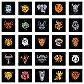 Animal icon faces
