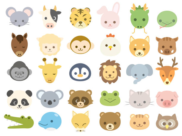 animal icon1 - cute stock illustrations
