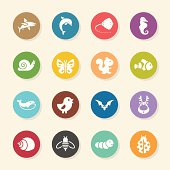 Animal Icons - Color Circle Series