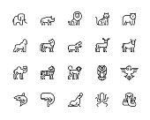 Animals, Wildlife, Sea Animals, Zoo, Animal Character, Icons, Vector, Illustration
