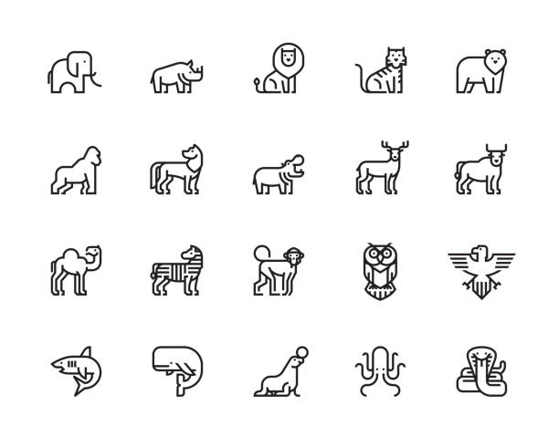 animal icons - animals stock illustrations