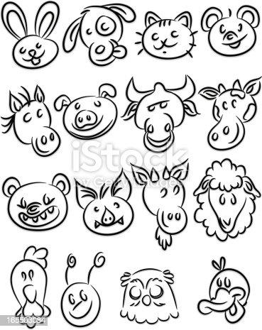 istock Animal icons 165503084