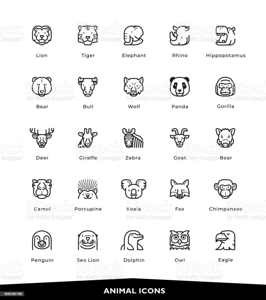 Animal icons royalty-free animal icons stock illustration - download image now